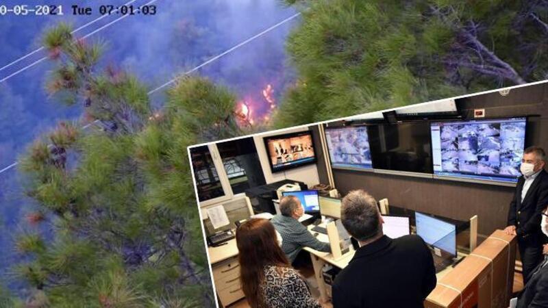 Orman yangını sonrası kolonya ve çakmakla yakalanan kişiye gözaltı