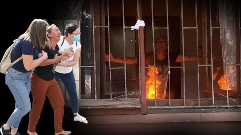 Çocuğuyla birlikte kapıyı üzerlerine kilitleyip, evi ateşe verdi