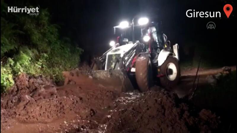 Giresun'un Yağlıdere ilçesinde şiddetli yağış hasara neden oldu
