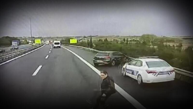 Büyükçekmece'de doktorun öldüğü kaza kamerada