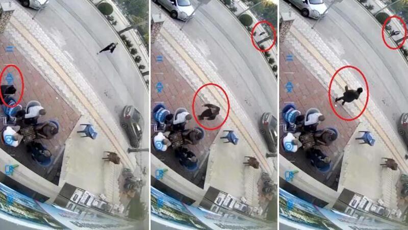 Hatay'da kadına satırlı saldırı anı kamerada