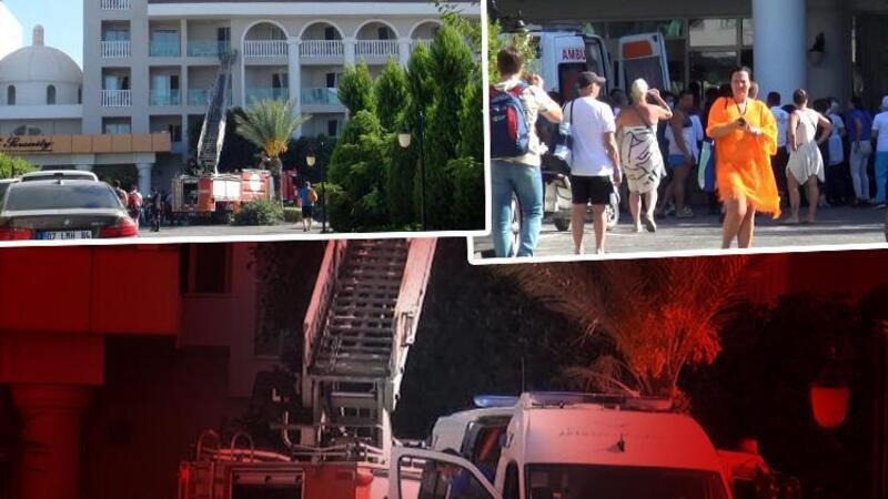 Manavgat'ta otelde yangın paniği