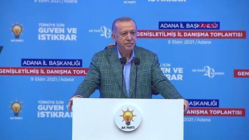 Cumhurbaşkanı Erdoğan, AK Parti Adana Genişletilmiş İl Danışma Toplantısı'nda açıklamalarda bulundu