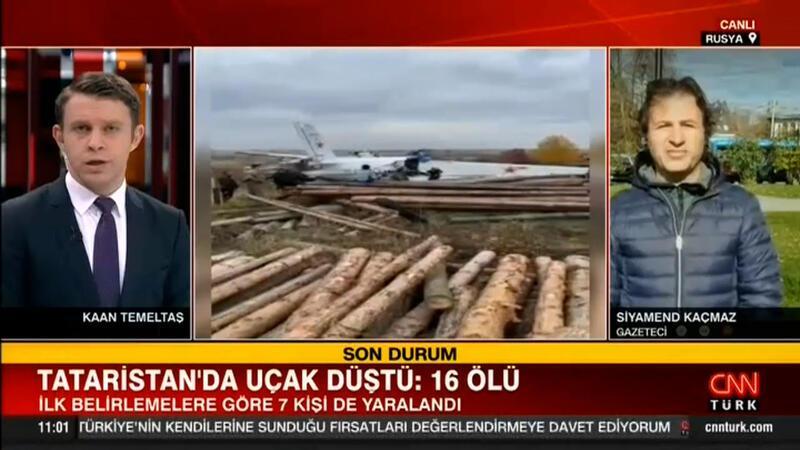 Tataristan'da uçak kazası: 16 ölü