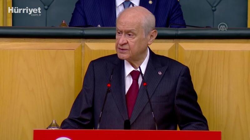 MHP lideri Devlet Bahçeli partisinin grup toplantısında konuştu