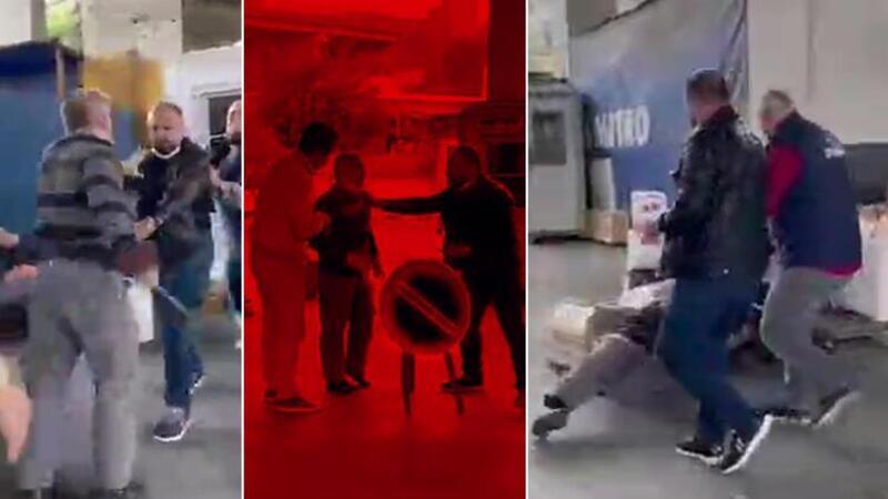 Müşteri ile kargo şirketi çalışanı arasında kavga çıktı