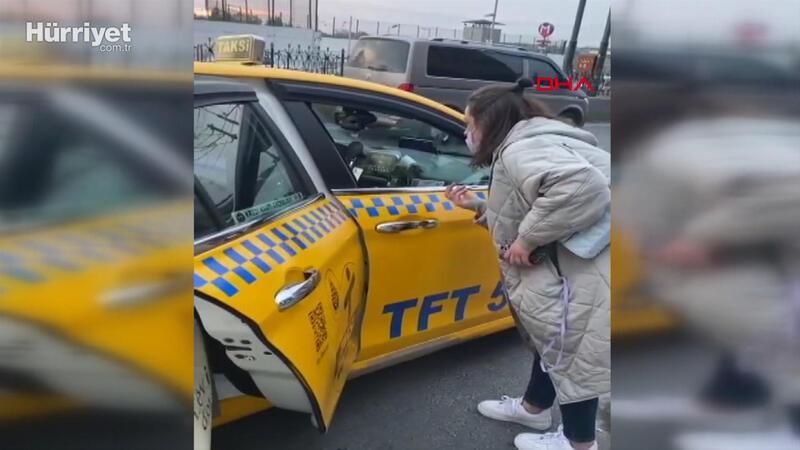 "AVM önünde taksicilere ""turist"" tepkisi"