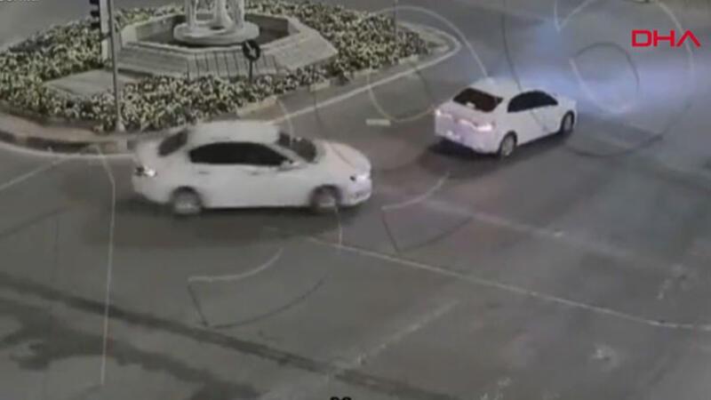Gaziantep'te kazalar mobese kameralarına yansıdı