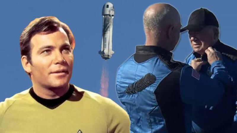 Kaptan Kirk karakteriyle bilinen William Shatner uzaya çıkan en yaşlı insan oldu