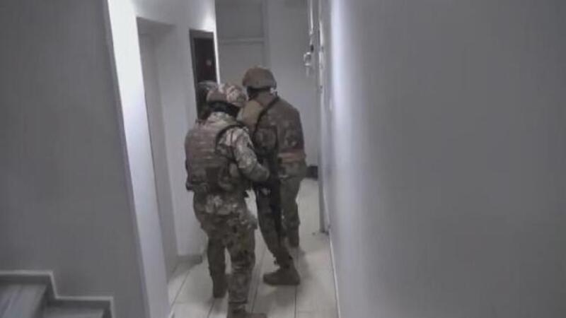 79 şüphelinin gözaltına alındığı DHKP/C operasyonu kamerada