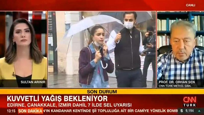 Edirne,Çanakkale,İzmir dahil 7 ilde sel uyarısı... Kuvvetli yağış geliyor