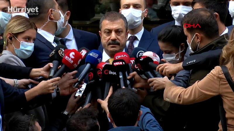 Merkez Bankası Başkanı Şahap Kavcıoğlu, Kılıçdaroğlu ile görüşmesi sonrası konuştu