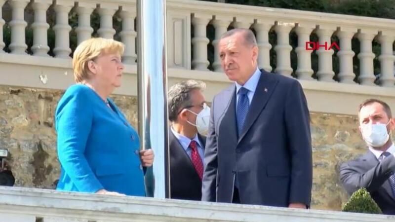 Cumhurbaşkanı Erdoğan ile Merkel görüşmesi başladı