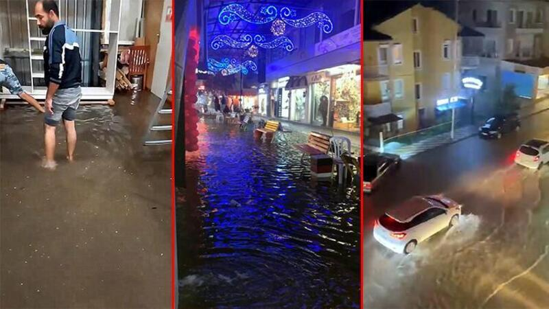 Fethiye'de yağmur yaşamı olumsuz etkiledi