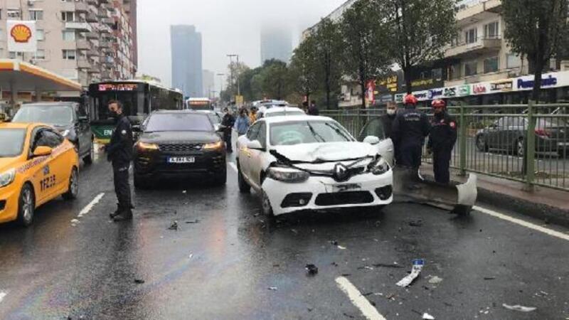 Beşiktaş'ta zincirleme kazası
