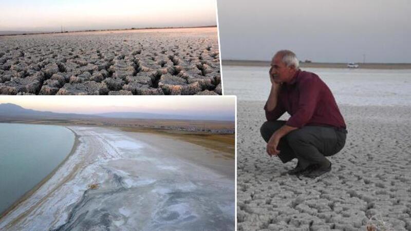 Arin Gölü, kuraklık nedeniyle yüzde 15 küçüldü