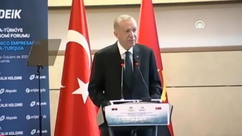 Cumhurbaşkanı Recep Tayyip Erdoğan, Türkiye-Angola İş Forumu'nda açıklama yaptı