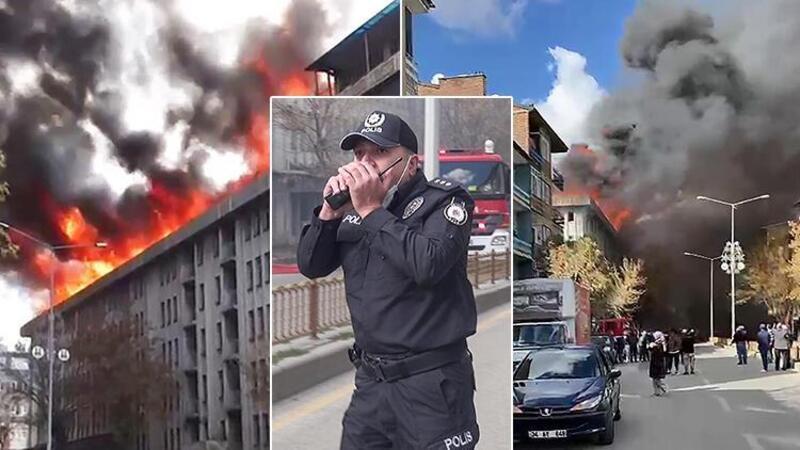 Erzurum'da İller Bankası'nın eski binasında yangın paniği