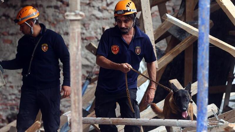 Ankara'da inşaat kirişlerinin çökmesi sonucu 3 işçi yaralandı