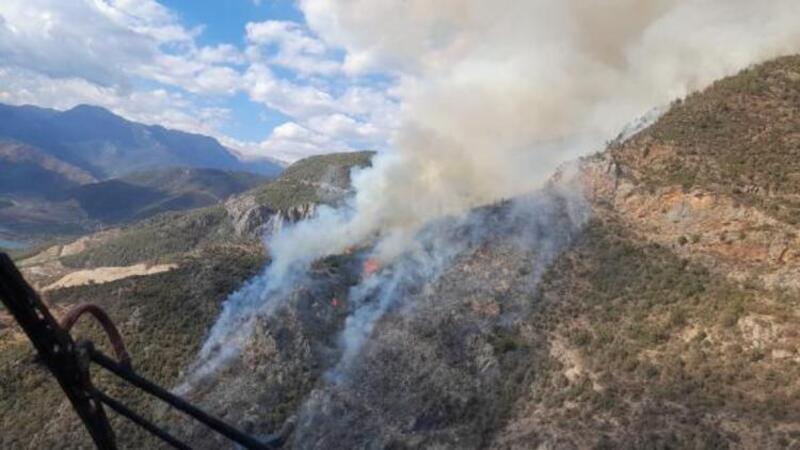 Mersin'in Anamur ilçesinde orman yangını