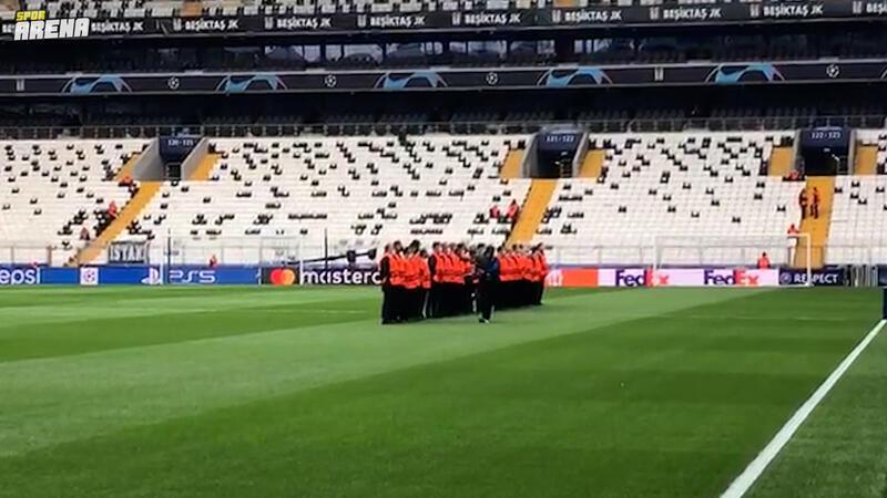 Beşiktaş'ın Portekiz'in Sporting maçı öncesi ilginç görüntüler ortaya çıktı