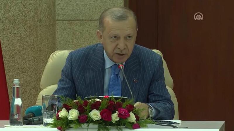 Cumhurbaşkanı Erdoğan, Togo Cumhurbaşkanı Gnassingbe ile heyetler arası toplantısında konuştu