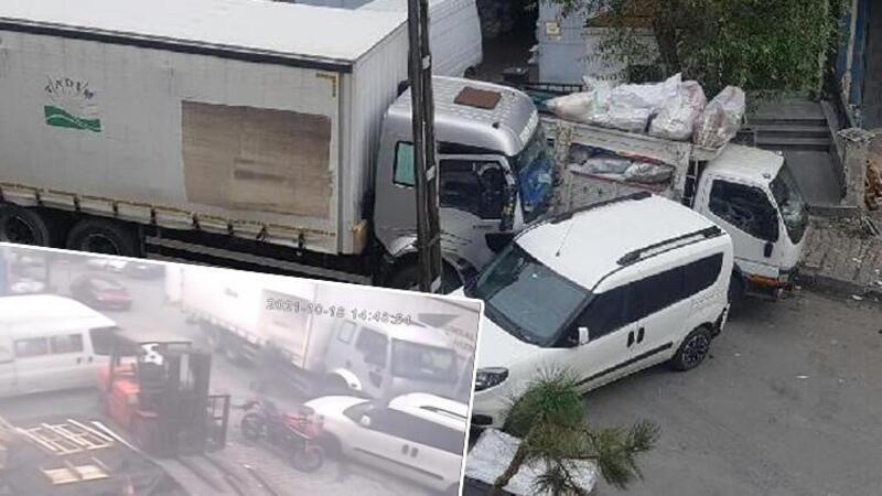 Bağcılar'da freni boşalan kamyonu tutarak durdurmaya çalışınca ayakları ezildi