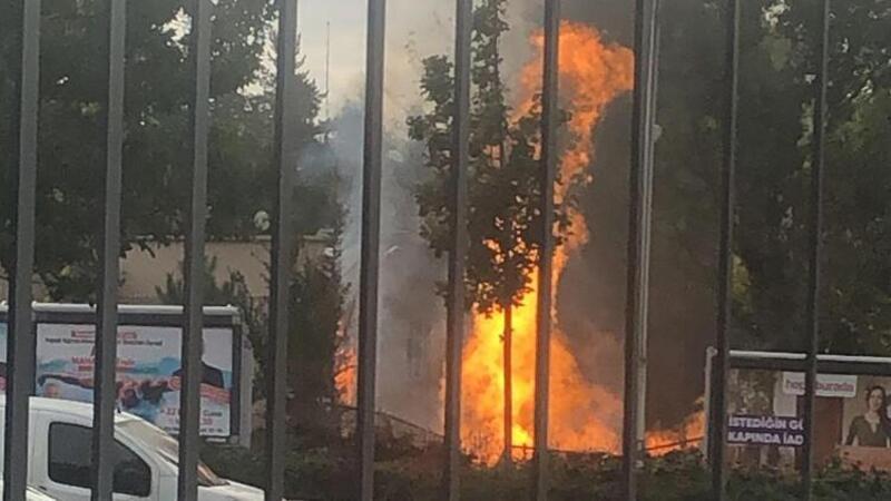 Ankara'da MTA Genel Müdürlüğü'nün önünde patlama
