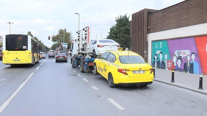 Fatih'te sivil polisi almayıp müşteri seçen taksiciye ceza