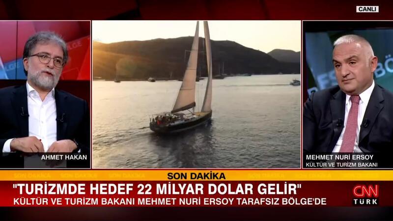 Bakan Ersoy, canlı yayında turizmde hedefi açıkladı