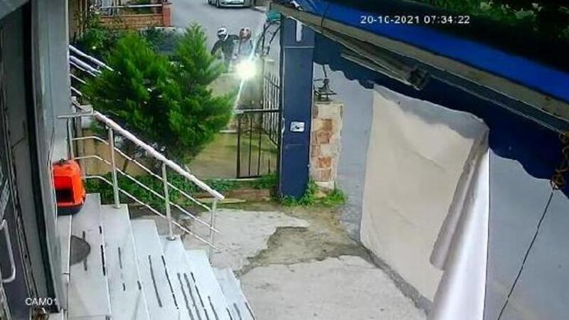 Ümraniye'de motosiklet hırsızlığı