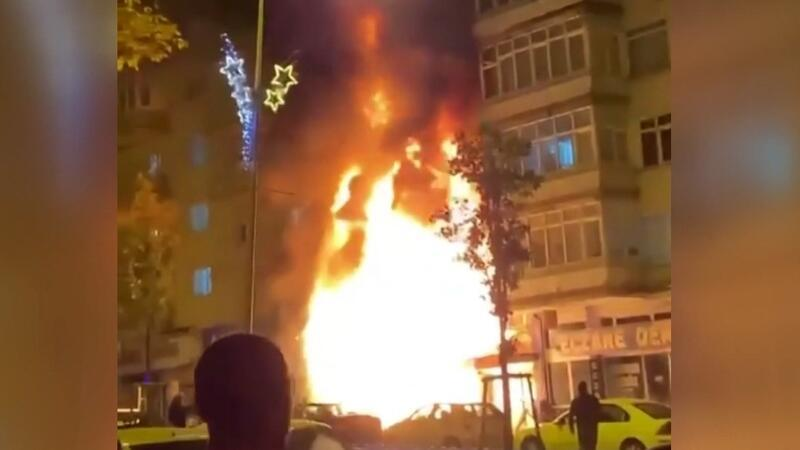 5 katlı binada çıkan yangında can pazarı