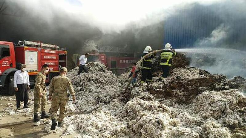 Adıyaman'da çırçır fabrikasında yangın