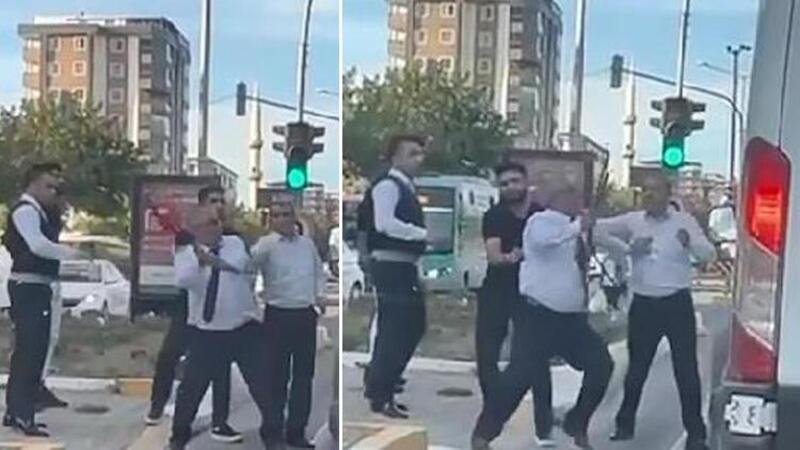 Şanlıurfa'da otobüs şoförü, yol verme tartışmasında minibüsün önünü kesip sopayla saldırdı