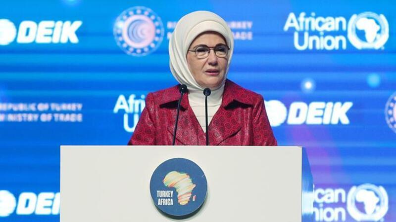 """Emine Erdoğan """"Türkiye-Afrika Kadın Liderlik Diyaloğu Paneli""""nde konuştu"""