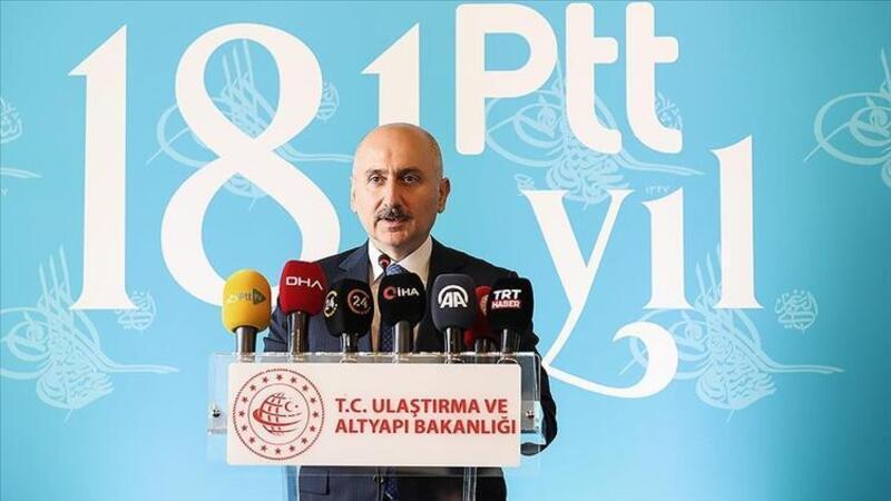 Ulaştırma ve Altyapı Bakanı Karaismailoğlu, PTT'nin 181. kuruluş yıldönümünü kutladı