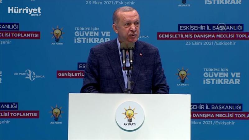 Cumhurbaşkanı Erdoğan, AK Parti Eskişehir  Genişletilmiş İl Danışma Toplantısı'nda konuştu