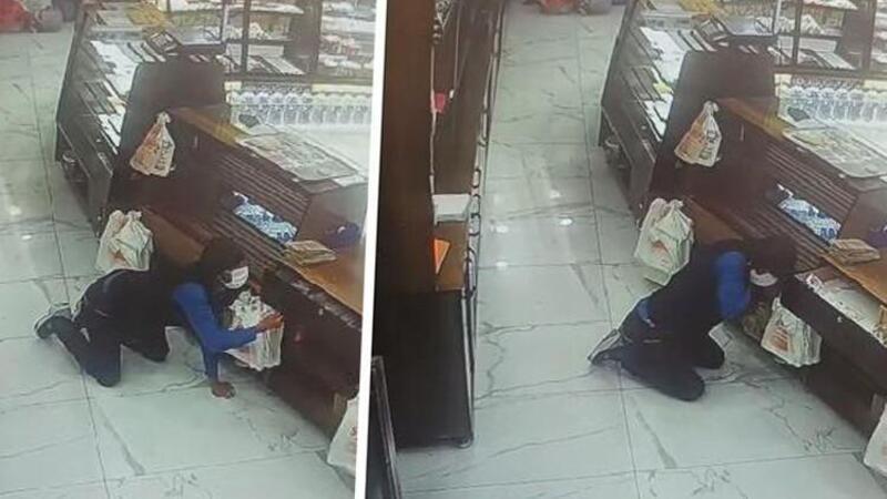 Göçmen kaçakçılığından aranıyordu! Hırsızlık yaparken kameralara yakalandı
