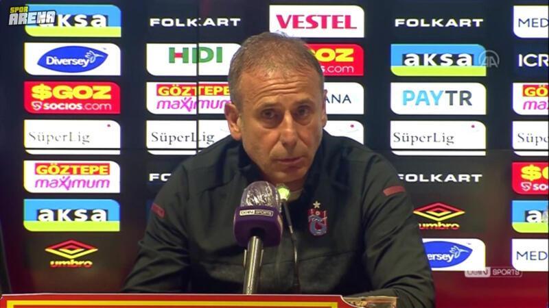 Trabzonspor Teknik Direktörü Abdullah Avcı, Göztepe maçının ardından konuştu