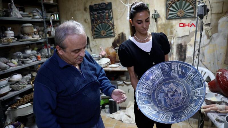 52 yıldır 'antika hastanesi'nde antika ve anılara hayat veriyor