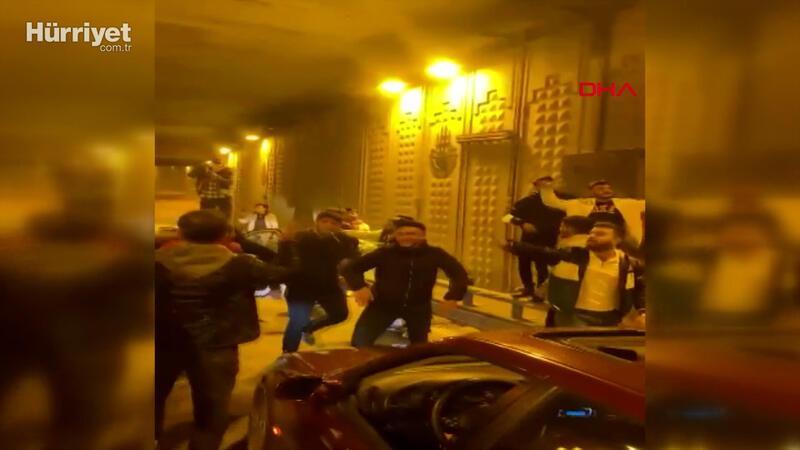 Ataşehirve Ümraniye'de tüneli kapatarak asker eğlencesi yaptılar