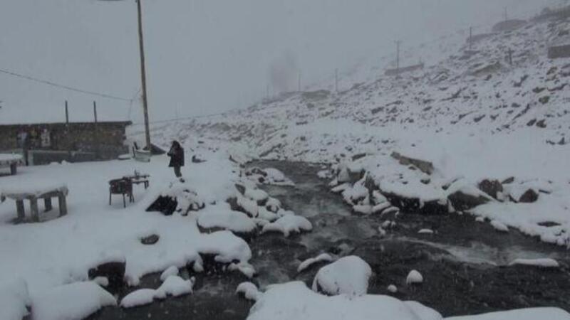 Rize'nin yüksek kesimlerinde kar kalınlığı 20 santimi aştı