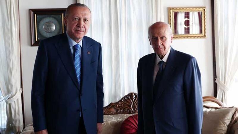 Cumhurbaşkanı Erdoğan, MHP Genel Başkanı Bahçeli'yi kabul etti