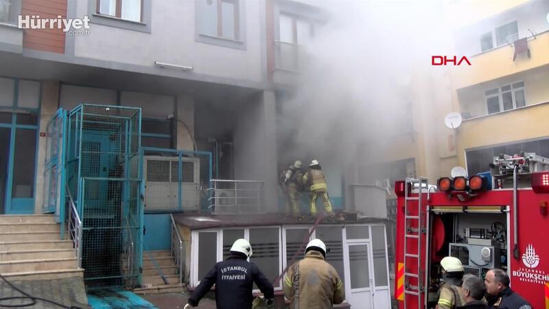 Maltepe'de markette yangın paniği