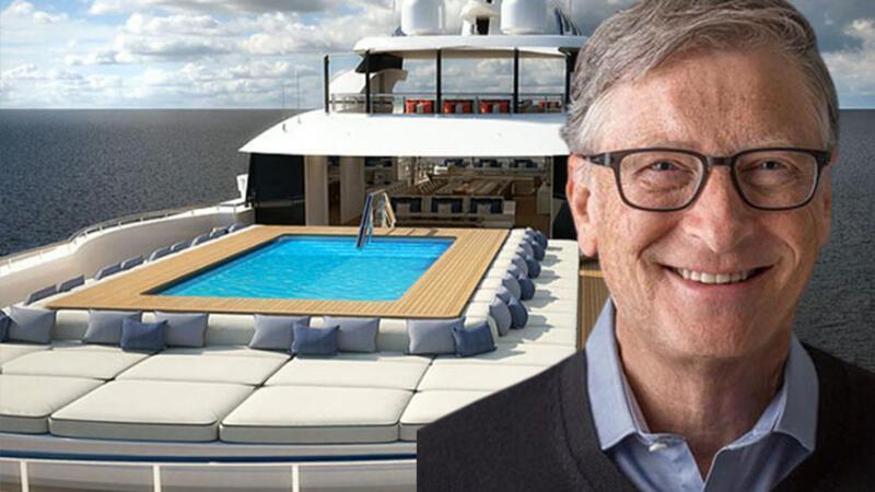 Bill Gates'in lüks yatları Marmaris'te