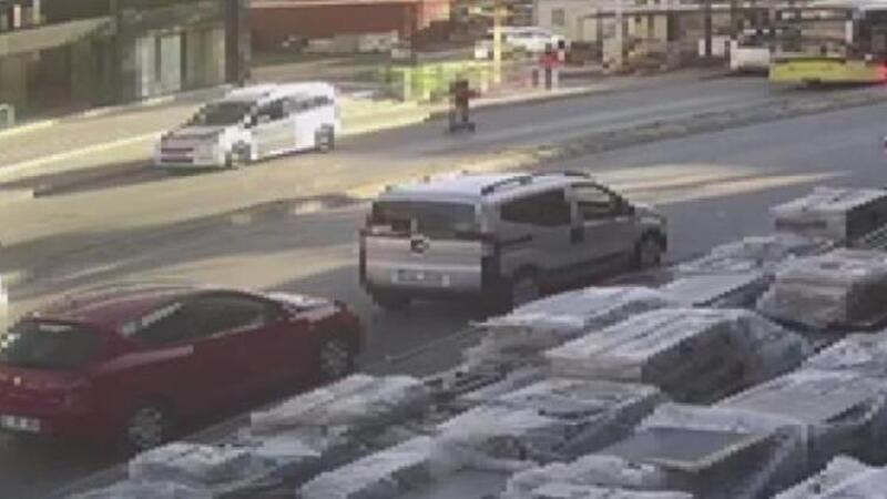 İETT otobüsünün ezdiği scooter kullanan kadın ağır yaralandı