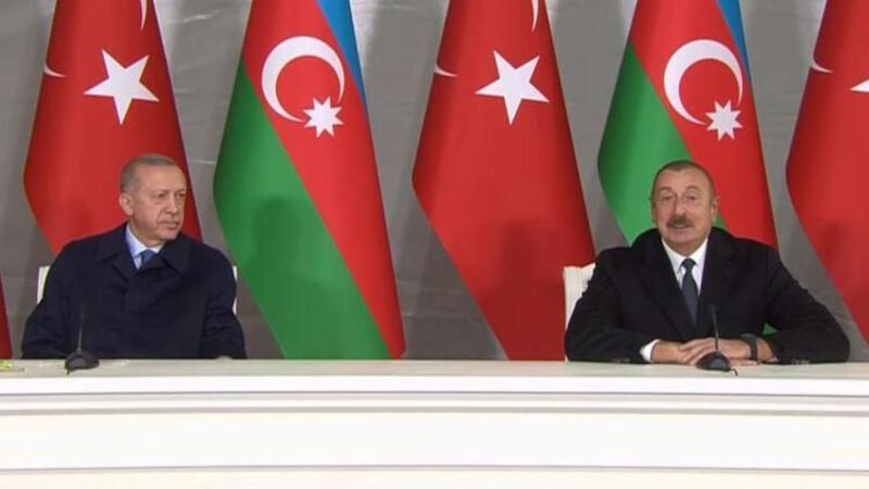 Cumhurbaşkanı Erdoğan ve İlham Aliyev ortak basın toplantısında açıklamalarda bulundu