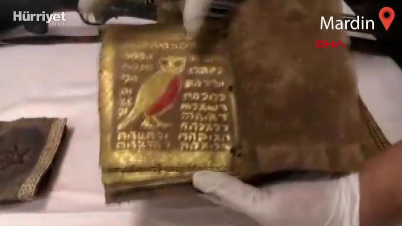 Mardin'de bin yıllık altın işlemeli 5 Tevrat ele geçirildi