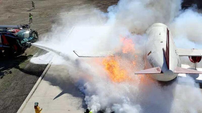 Esenboğa Havalimanı'nda filmleri aratmayan uçak kazası tatbikatı
