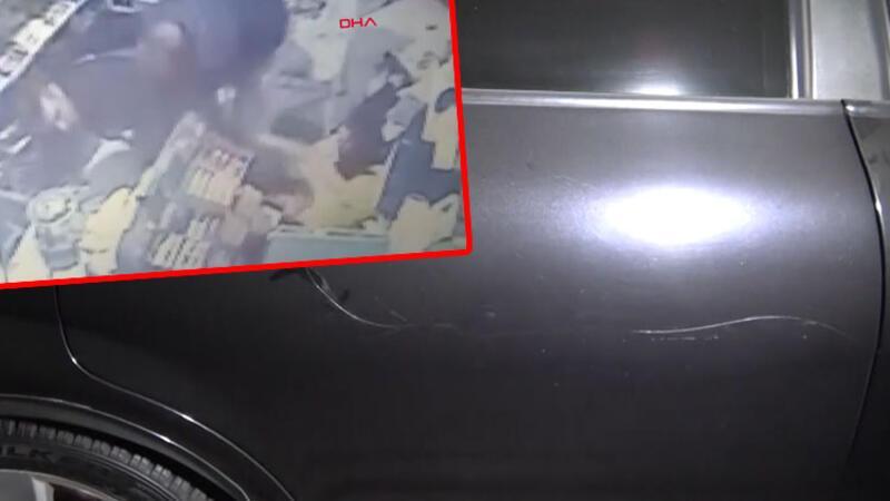 Otomobili çizildiği için tartıştığı site görevlisini öldürdüğü anlar kamerada
